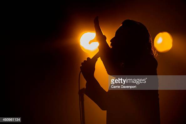 Father John Misty performs onstage at the Mandela Hall on October 23 2015 in Belfast Northern Ireland