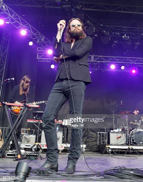 Father John Misty performs onstage during the 2016 Governors Ball Music Festival at Randall's Island on June 3 2016 in New York City