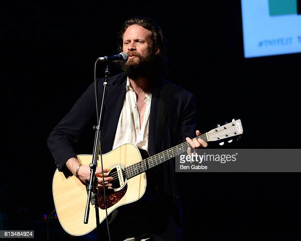 Father John Misty performs onstage during The New Yorker Festival at Gramercy Theatre during on October 8 2016 in New York City