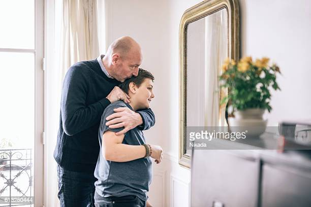 Vater Küssen Sohn