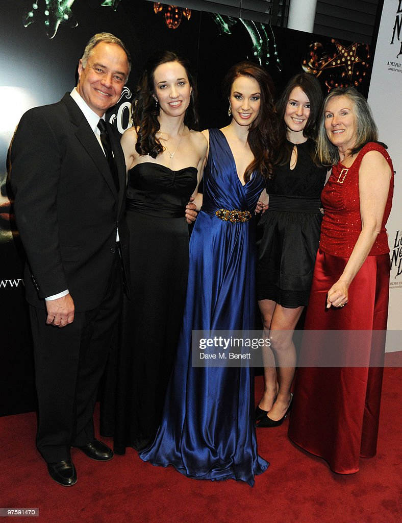 Father Mike, Summer, Sierra, Allegra Boggess and mother Kellun Turner attend the afterparty following the world premiere of 'Love Never Dies' at the Old Billingsgate Market on March 9, 2010 in London, England.
