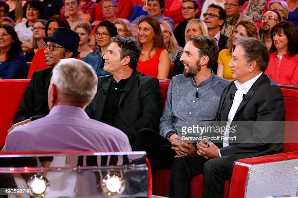 Father of Christophe Willem Christian Members of the Jury of the 'Nouvelle Star' Show when Christophe Willem won it Manu Katche and Dove Attia Main...