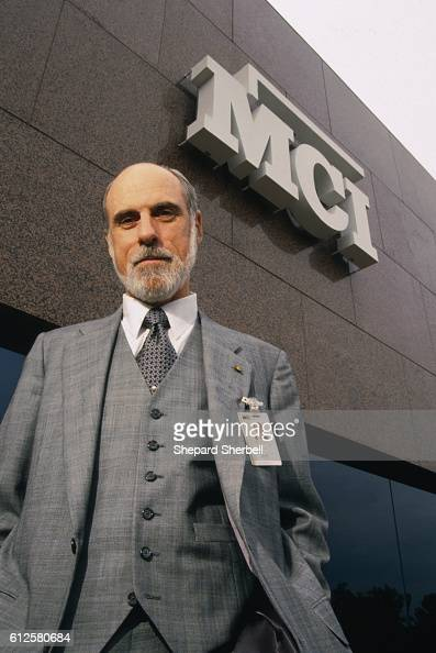 'Father of the Internet' Vinton G Cerf outside the headquarters of MCI WorldCom where he is Senior Vice President of Internet Architecture and...