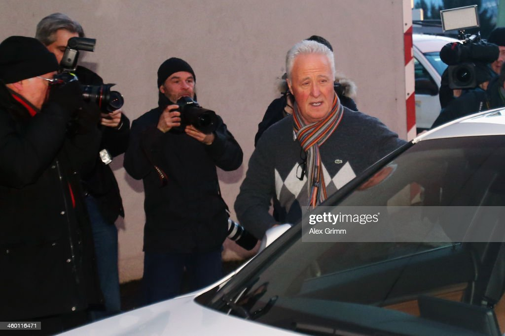 Father Rolf Schumacher arrives at the Grenoble University Hospital Centre where former German Formula One driver Michael Schumacher is being treated for a severe head injury following a skiing accident on Sunday in Meribel on January 2, 2014 in Grenoble, France.