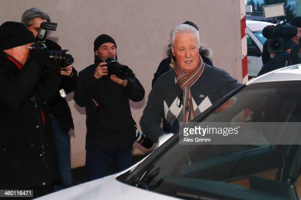 Father Rolf Schumacher arrives at the Grenoble University Hospital Centre where former German Formula One driver Michael Schumacher is being treated...