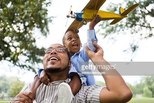 Father, Son and Model Airplane