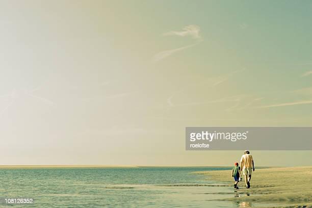 Father & Son Beach Scene