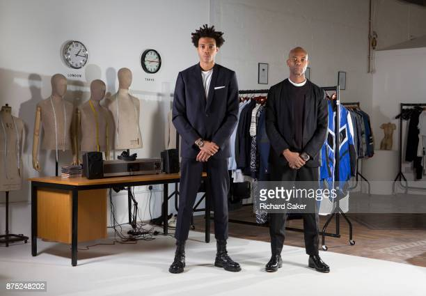 Father son fashion designers Joe CaselyHayford Charlie CaselyHayford are photographed for the Guardian Newspaper on June 22 2015 in London England