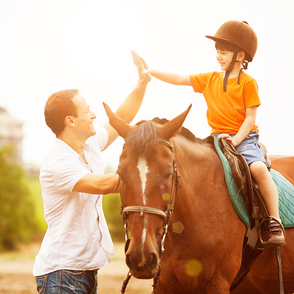 Horse Riding Lesson Stock Photos And Pictures Getty Images