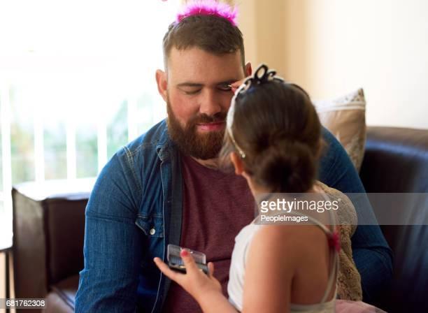 Vaterschaft - dressing das Teil und spielt die Rolle