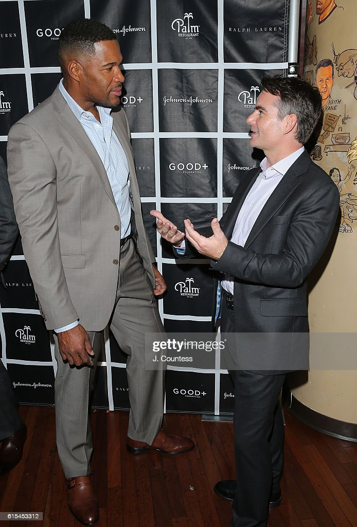 GOOD+ Fatherhood Leadership Council members Michael Strahan and Jeff Gordon attend the 2016 Foundation Good+ New York Fatherhood Luncheon at The Palm Tribeca on October 18, 2016 in New York City.