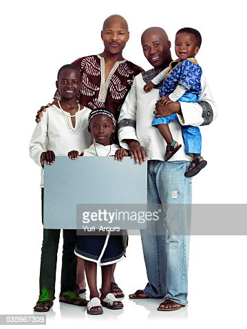 Fathers with a message : Stock Photo