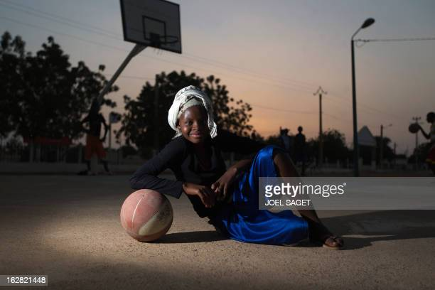 COZ Fati poses as she plays basketball at the former 'Sharia Square' in central Gao on February 26 2013 Since the departure of the Islamists who...