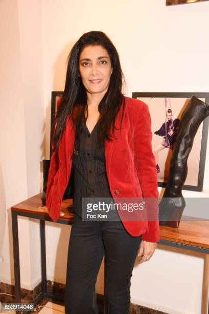 Fatima Adoum attends Avellino Cocktail Party at Avellino Store Rue de Richelieu on September 25 2017 in Paris France