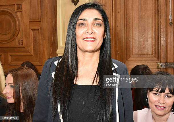 Fatima Adoum attends the Dany Atrache Haute Couture Spring Summer 2017 show as part of Paris Fashion Week>> on January 23 2017 in Paris France