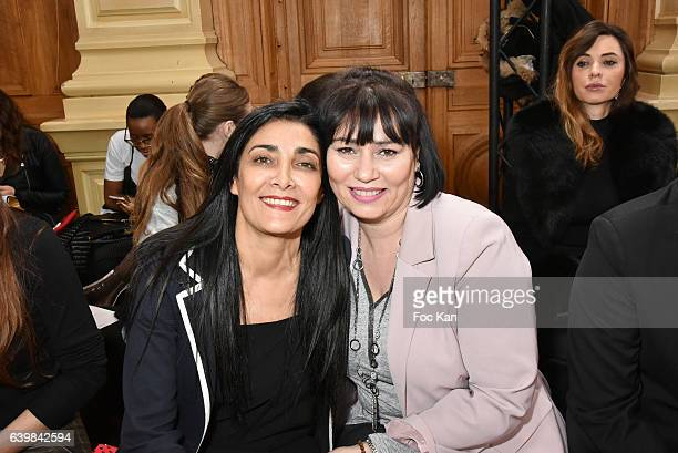 Fatima Adoumand Elisabeth Deshayes attend the Dany Atrache Haute Couture Spring Summer 2017 show as part of Paris Fashion Week>> on January 23 2017...