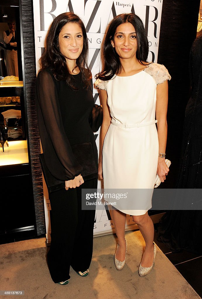 Fatima Bhutto (L) and <a gi-track='captionPersonalityLinkClicked' href=/galleries/search?phrase=Megha+Mittal&family=editorial&specificpeople=5686284 ng-click='$event.stopPropagation()'>Megha Mittal</a> attend the ESCADA/Harper's Bazaar book reading with Fatima Bhutto, reading from her novel 'The Shadow Of The Crescent Moon', at the ESCADA Knightbridge boutique on December 11, 2013 in London, England.