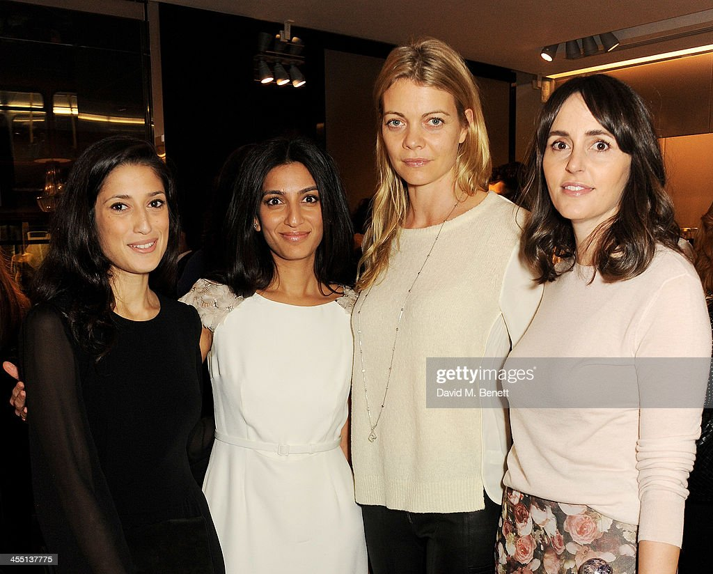 Fatima Bhutto, <a gi-track='captionPersonalityLinkClicked' href=/galleries/search?phrase=Megha+Mittal&family=editorial&specificpeople=5686284 ng-click='$event.stopPropagation()'>Megha Mittal</a>, <a gi-track='captionPersonalityLinkClicked' href=/galleries/search?phrase=Jemma+Kidd&family=editorial&specificpeople=206527 ng-click='$event.stopPropagation()'>Jemma Kidd</a>, Countess of Mornington, and Tania Fares attend the ESCADA/Harper's Bazaar book reading with Fatima Bhutto, reading from her novel 'The Shadow Of The Crescent Moon', at the ESCADA Knightbridge boutique on December 11, 2013 in London, England.