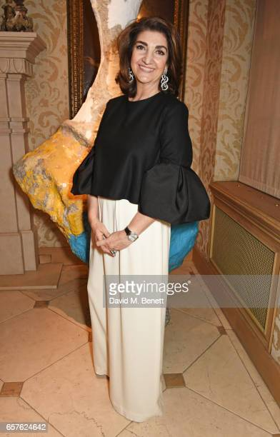 Fatima Maleki attends Lisa Tchenguiz's party hosted by Fatima Maleki in Mayfair on March 24 2017 in London England