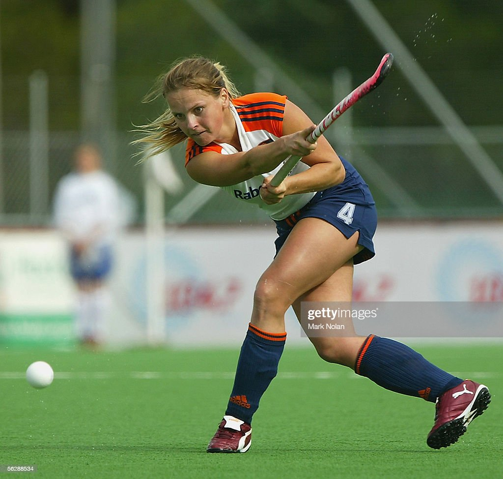 Fatima Moreira De Melo of the Netherlands in action during the Women's Hockey Champions Trophy third round match between the Netherlands and South...