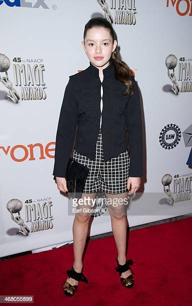 Fatima Ptacek attends the 45th NAACP Image Awards Luncheon at Lowes Hollywood Hotel on February 8 2014 in Hollywood California