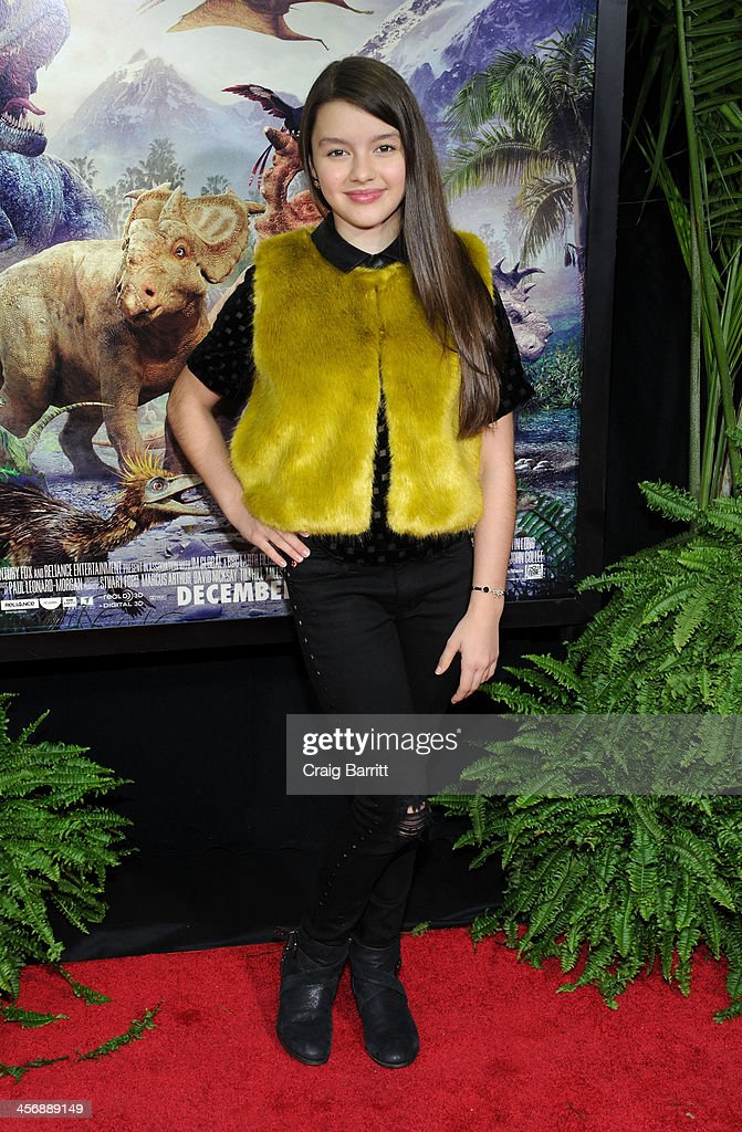 Fatima Ptacek attends the 'Walking With Dinosaurs' screening at Cinema 1, 2 & 3 on December 15, 2013 in New York City.