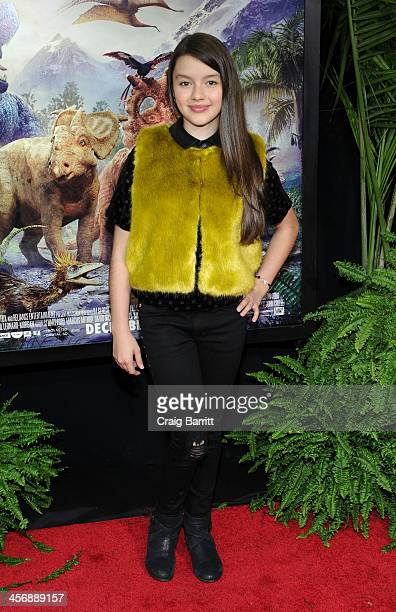 Fatima Ptacek attends the 'Walking With Dinosaurs' screening at Cinema 1 2 3 on December 15 2013 in New York City