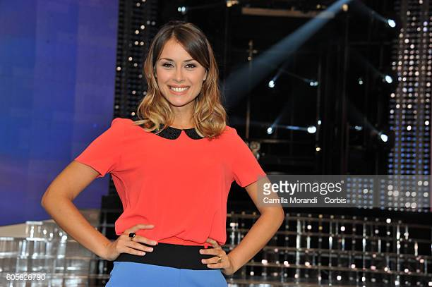 Fatima Trotta attends 'Tale e Quale Show' presentation on September 14 2016 in Rome Italy