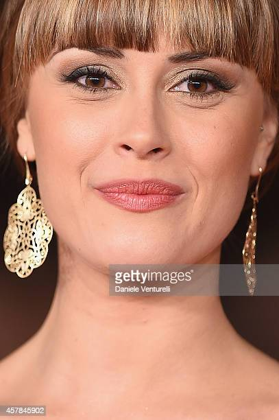 Fatima Trotta attends the 'Andiamo A Quel Paese' red carpet during the 9th Rome Film Festival at Auditorium Parco Della Musica on October 25 2014 in...