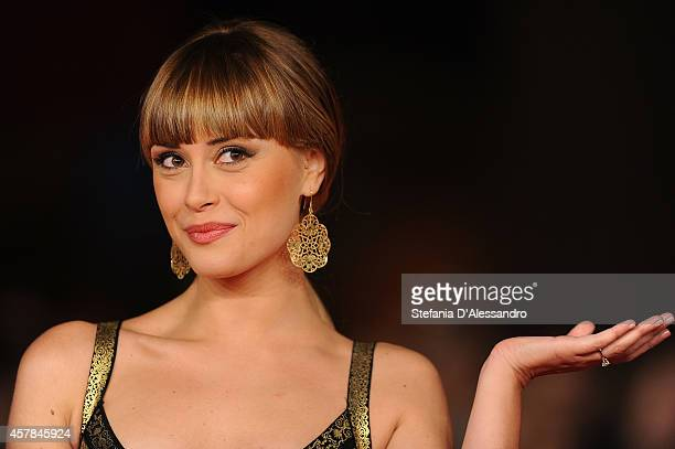 Fatima Trotta attends the 'Andiamo A Quel Paese' Red Carpet during the 9th Rome Film Festival on October 25 2014 in Rome Italy