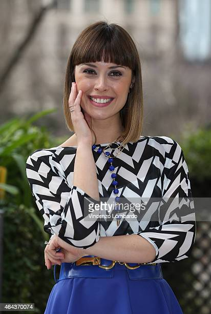 Fatima Trotta attends the 'Made In Sud' Photocall in Milan on February 25 2015 in Milan Italy