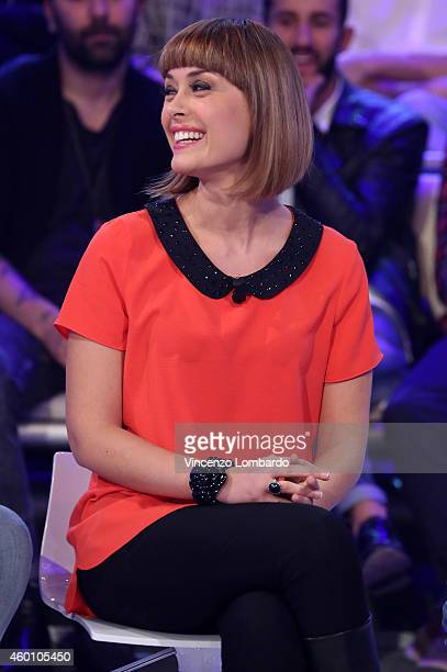 Fatima Trotta attends the 'Quelli Che Il Calcio' TV show on December 7 2014 in Milan Italy