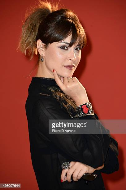 Fatima Trotta poses during the 'Matrimonio Al Sud' Photocall on November 6 2015 in Milan Italy