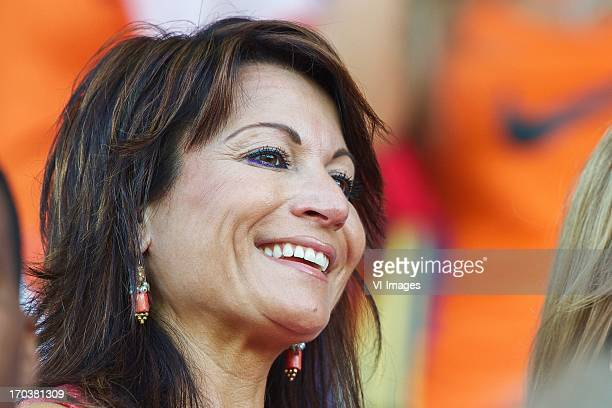 Fatima wife of coach Cor Pot of Holland U21 during the UEFA U21 Championship match between Spain U21 and Netherlands U21 on June 12 2013 at the Ha...