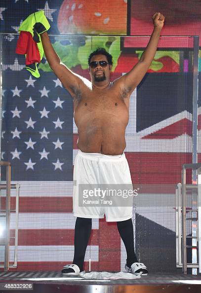 Fatman Scoop is the 5th Celebrity evicted from the Big Brother House at Elstree Studios on September 15 2015 in Borehamwood England