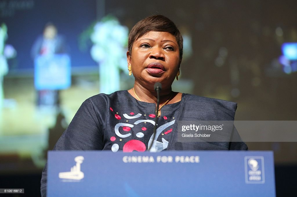<a gi-track='captionPersonalityLinkClicked' href=/galleries/search?phrase=Fatou+Bensouda&family=editorial&specificpeople=802492 ng-click='$event.stopPropagation()'>Fatou Bensouda</a> during the Cinema For Peace Gala 2016 during the 66th Berlinale International Film Festival on February 15, 2016 in Berlin, Germany.