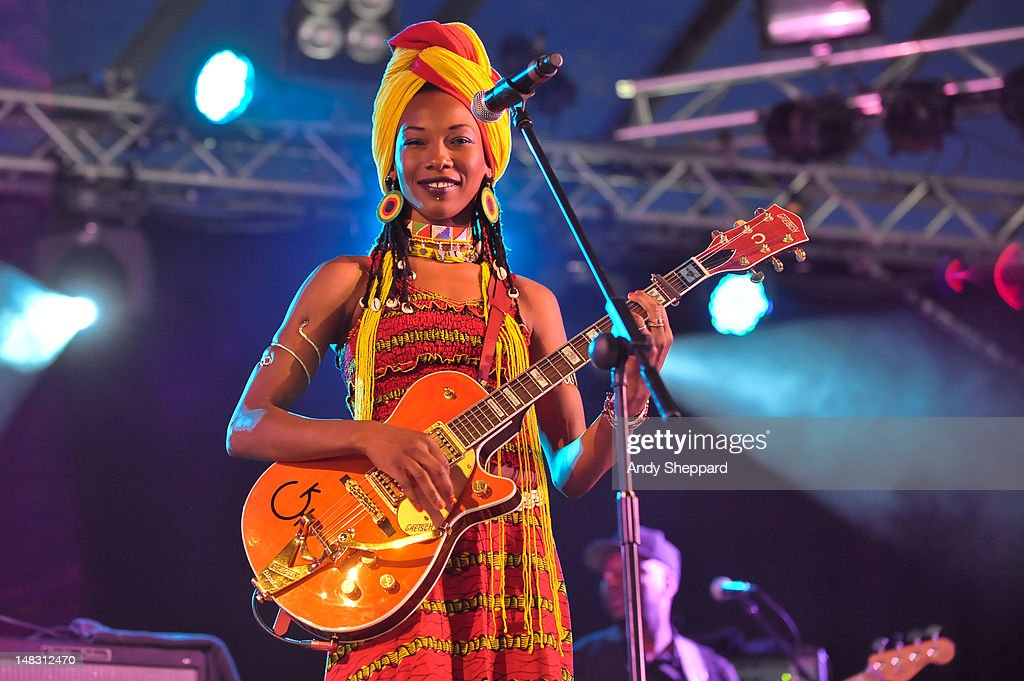 <a gi-track='captionPersonalityLinkClicked' href=/galleries/search?phrase=Fatoumata+Diawara&family=editorial&specificpeople=6928565 ng-click='$event.stopPropagation()'>Fatoumata Diawara</a> performs on stage during Latitude Festival 2012 at Henham Park Estate on July 13, 2012 in Southwold, United Kingdom.