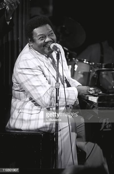 Fats Domino during Fats Domino Preforms at EMI Legends of Rock n' Roll Series in New York City New York United States