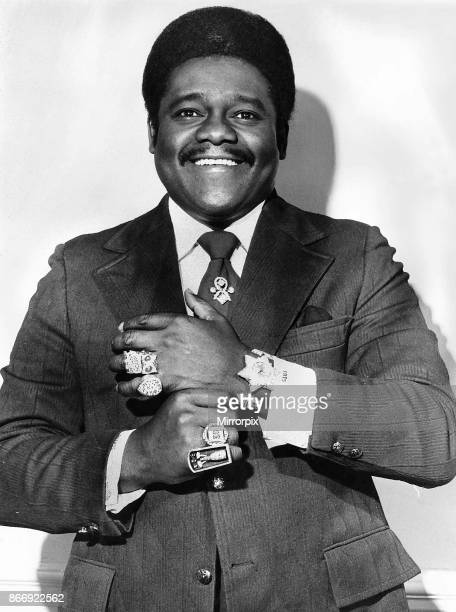 Fats Domino Rock and Roll singer on tour of Britain 1973