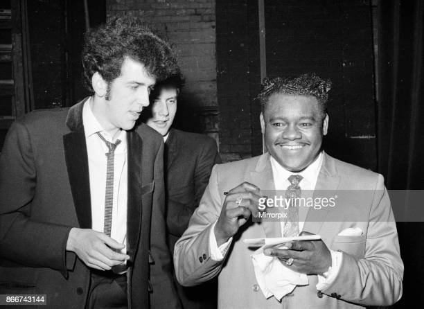Fats Domino with a fan Saville Theatre after his performance 27th March 1967