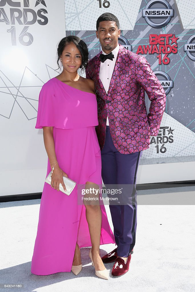 Faune A. Chambers (L) and Fonzworth Bentley attend the 2016 BET Awards at the Microsoft Theater on June 26, 2016 in Los Angeles, California.