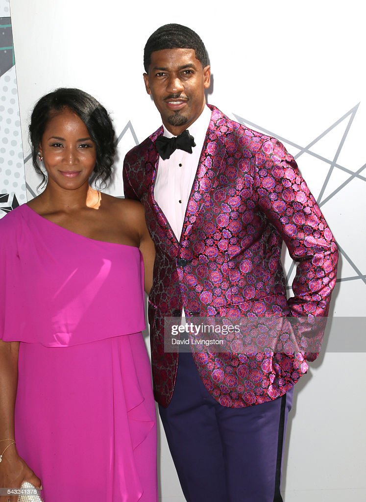 Faune A. Chambers (L) and Fonzworth Bentley attend the 2016 BET Awards at Microsoft Theater on June 26, 2016 in Los Angeles, California.