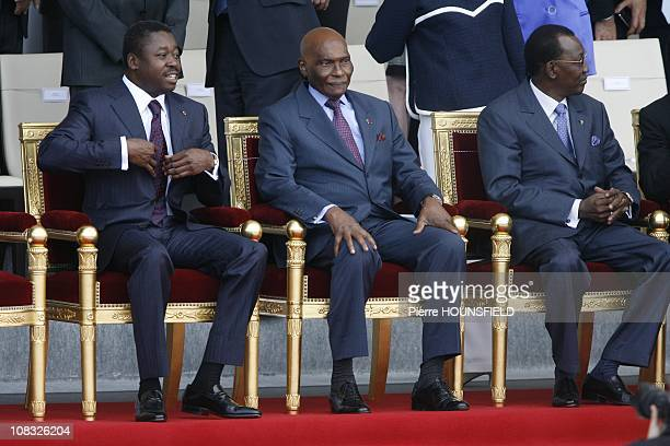 Faure Gnassingbe Abdoulaye Wade Idriss Deby Itno in Paris France on July 14th 2010