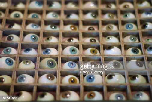 Faurie's glass eye collection : Stock Photo