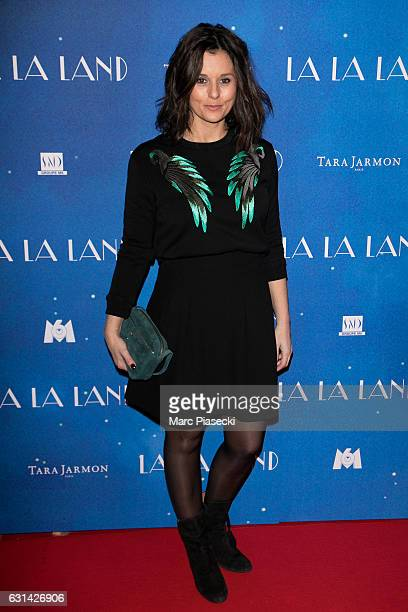 Faustine Bollaert attends 'La La Land' premiere at Cinema UGC Normandie on January 10 2017 in Paris France