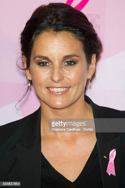Faustine Bollaert attends the 20 Ans Du Ruban Rose event organized by Estee Lauder during Breast Cancer Awareness Month in Paris