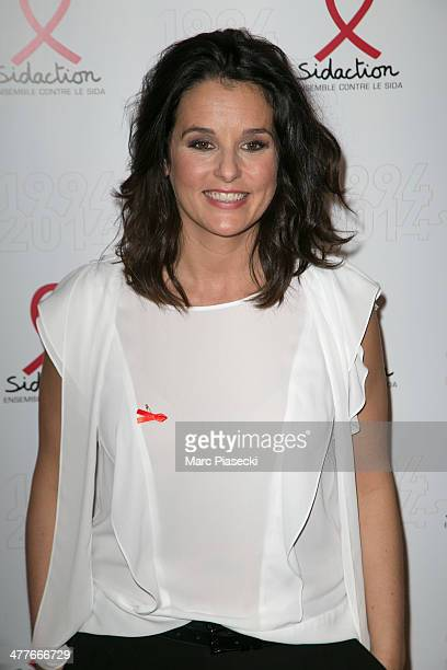 Faustine Bollaert attends the 'Sidaction 20th Anniversary' at Musee du Quai Branly on March 10 2014 in Paris France
