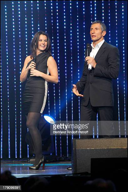 Faustine Bollaert Nagui at The Europe 1 Fait Bobino Show Featuring Europe's Best Comedians At Bobino Music Hall In Paris