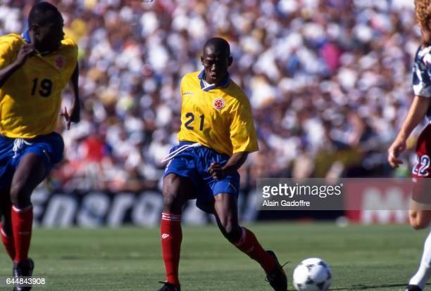 Faustino Asprilla Etats Unis / Colombie Coupe du Monde 1994 Photo Alain Gadoffre / Icon Sport