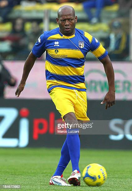 Faustino Asprilla of Stelle Gialloblu in action during the 100 Years Anniversary match between Stelle Crociate and US Stelle Gialloblu at Stadio...